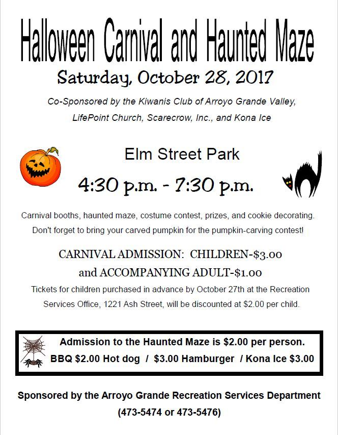 Halloween Carnival and Maze 2017