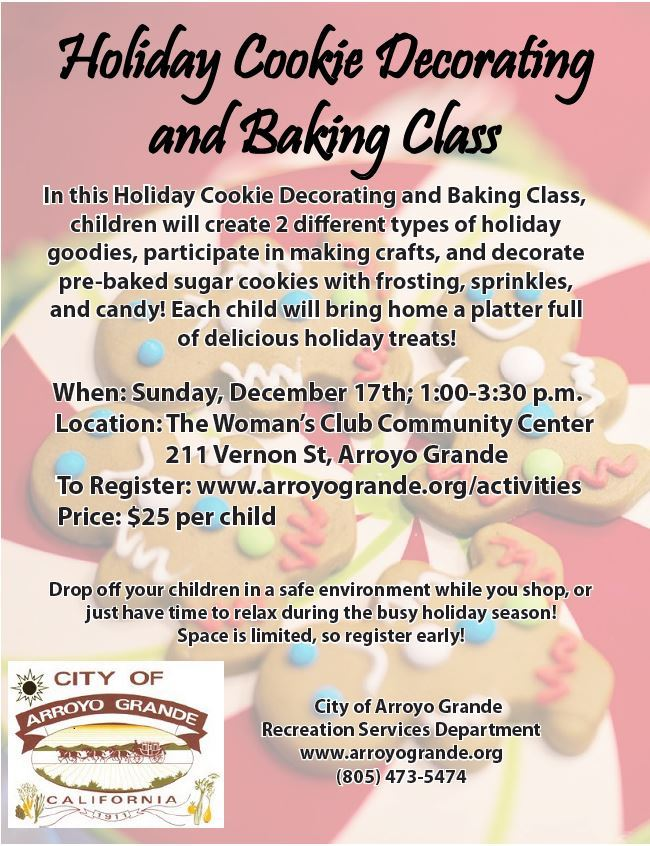 Holiday Cookie Baking and Decorating Class 2017
