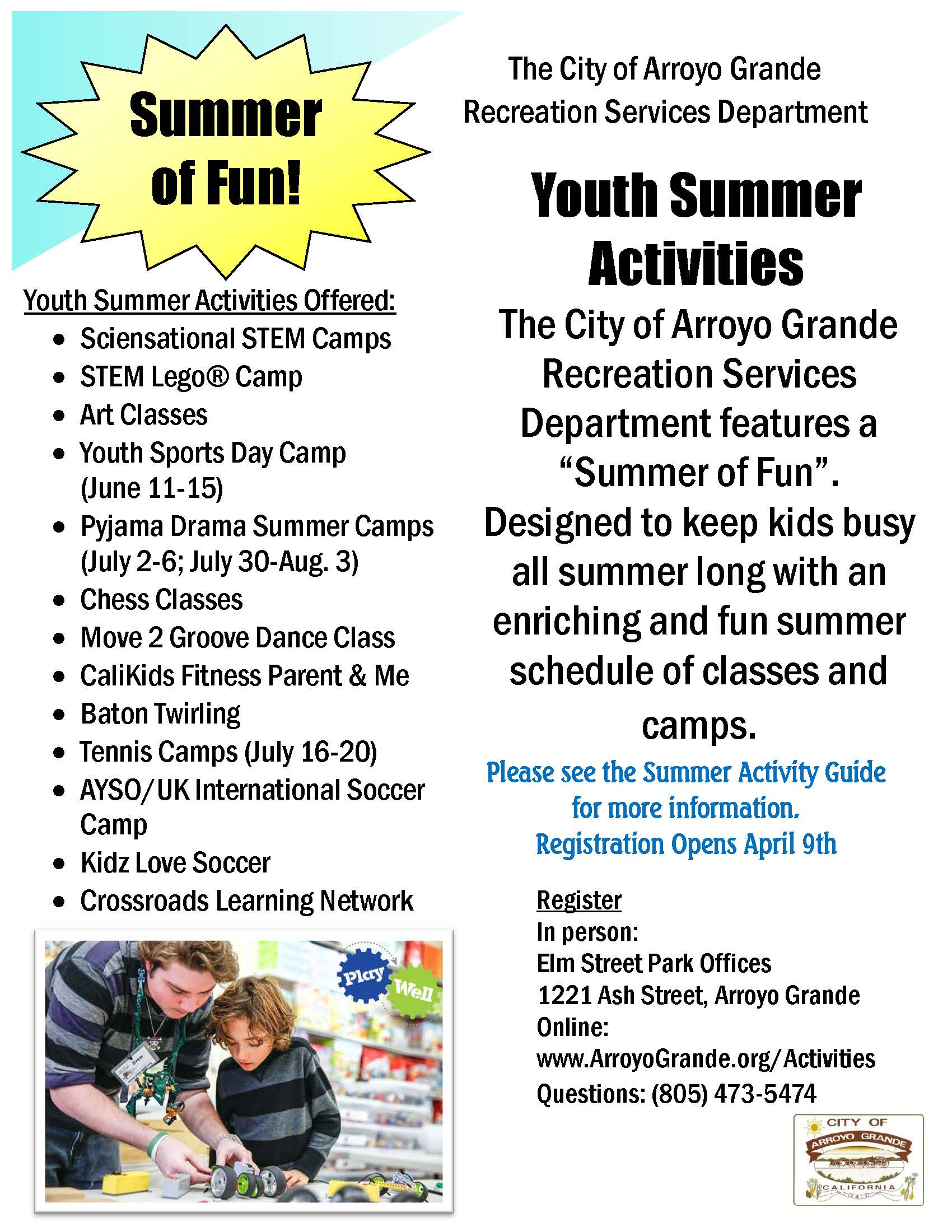 2018 Summer Activities - Youth