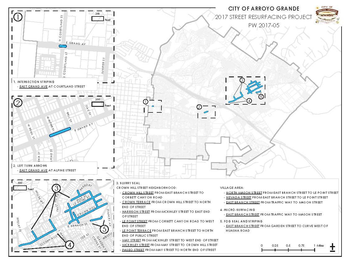 Map - 2017 Street Resurfacing Project