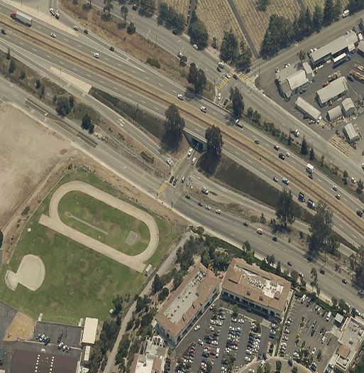 Brisco Road Interchange Aerial