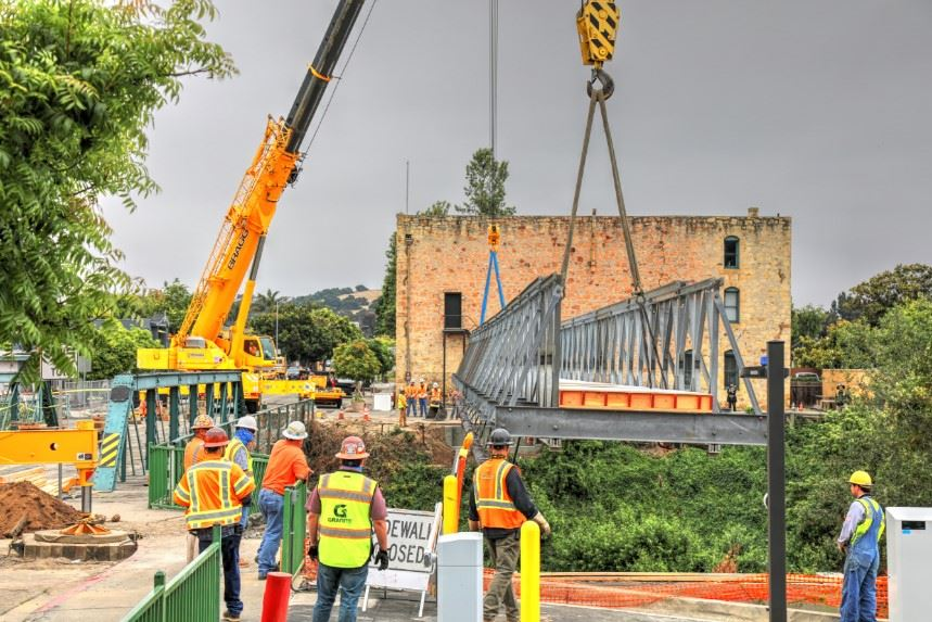 Bridge Street Bridge Lifted